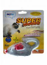 Brinquedo-Petix-Super-Mouse-Cinza-para-Gatos-