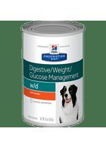 Racao-Hills-W-D-Canine-Low-Fat--Diabetic---Gastrointestinal-Health-–-370g-_-Prescription-Diet