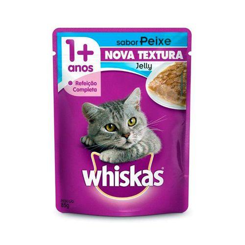 Racao-Whiskas-Sache-Jelly-Sabor-Peixe-para-Gatos-Adultos---85gr