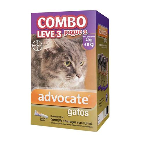 Antipulgas-Bayer-Combo-Advocate--Leve-3-pague-2--para-Gatos-de-4-a-8kg