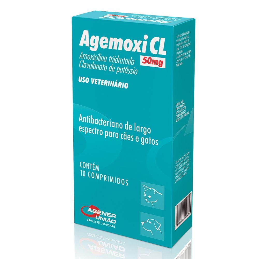 Antibiótico Agener Agemoxi CL para Cães e Gatos - 10 comprimidos ... 1d3558fb1fac3