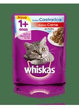 Racao-Umida-Whiskas-Sache-Carne-ao-Molho-para-Gatos-Adultos-Castrados----