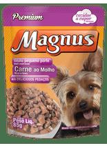 Sache-Magnus-Premium-Carne-ao-Molho-para-Caes-Adultos-de-Racas-Pequenas---