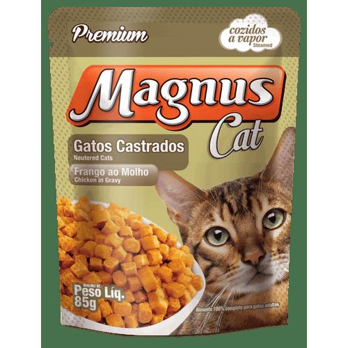 Sache-Magnus-Premium-Frango-ao-Molho-para-Gatos-Castrados-Adultos---