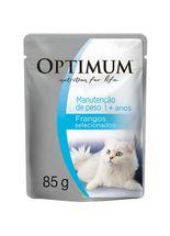 Racao-Umida-Optimum-Sache-Manutencao-de-Peso-Frango-para-Gatos-Adultos