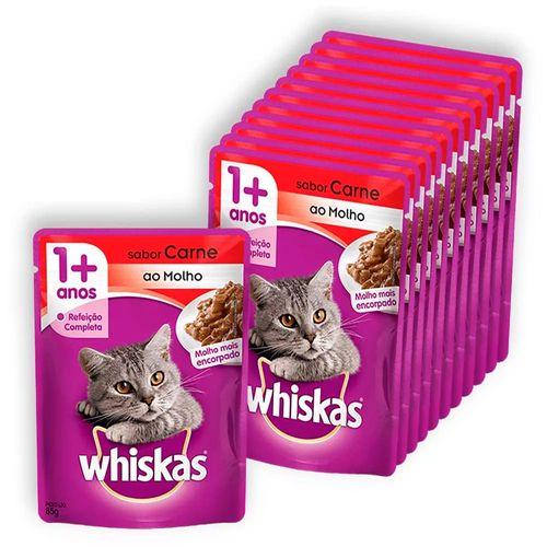 Kit-Saches-Whiskas-Sabor-Carne-Leve-12-Pague-10-para-Gatos