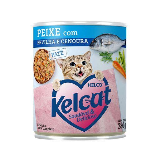 racao-umida-kelco-kelcat-sabor-peixe-com-ervilha-e-cenoura-para-gatos-adultos