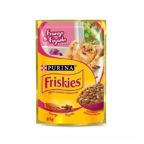 racao-umida-purina-friskies-sabor-frango-e-figado-para-gatos-adultos
