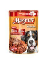 racao-umida-magnus-sabor-carne-ao-molho-leve-12-pague-10-para-caes-adultos