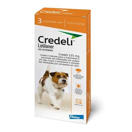 antipulgas-e-carrapaticida-elanco-credeli-lotilaner-225mg-para-caes-de-5-5-a-11kg