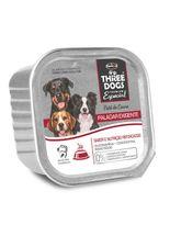 alimento-umido-three-dogs-pate-paladar-exigente-sabor-carne-para-caes-adultos