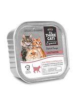 alimento-umido-three-cats-pate-boa-forma-sabor-frango-para-gatos-adultos-castrados